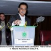 Speaker Sardar Ayaz Sadiq cast the first vote in the Senate elections