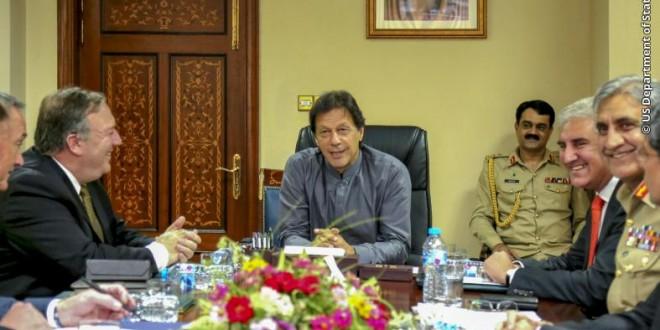 US Secretary of State Calls on the Prime Minister Imran Khan